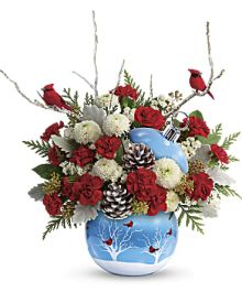 Teleflora's Cardinals In The Snow Ornament