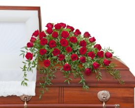 Simply Roses Deluxe Casket Spray - 36 Roses