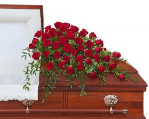 Simply Roses Supreme Casket Spray - 50 Roses
